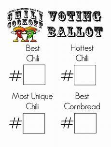 Voting Ballot Template For Word Chili Ballot Template Chili Cook Off Ballots Chili