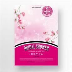 Bridal Shower Flyer Bridal Shower Flyer Template For Free Download On Pngtree