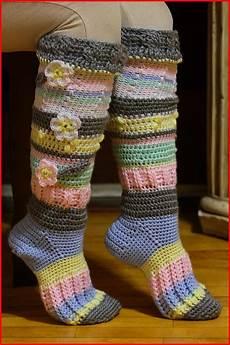 crochet socks crochet tutorial knee high socks knit and crochet
