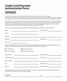 Pre Authorization Credit Card Free 8 Credit Card Authorization Form Samples In Pdf
