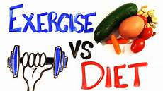 Exercise And Food Exercise Vs Diet Youtube