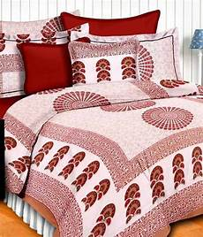 uniqchoice cotton jaipuri king size bed sheet with