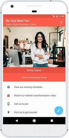Free Digital Cards Inigo Digital Business Cards Free Business Card App