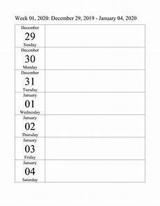 weekly planner template 2020 free printable calendar 2020 blank calendar shelter