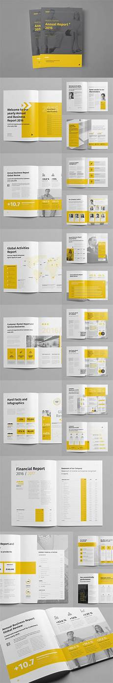 Annual Report Layout Design Minimal And Professional Annual Report Design Template