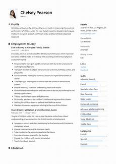 Nanny Resume Objective Sample Nanny Resume Amp Writing Guide 12 Template Samples Pdf