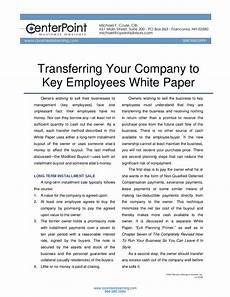 Transferring Within A Company Transferring Your Company To Key Employees