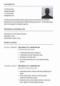 Simple Free Samples Simple Resume Format In Word Template Business