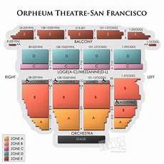 Shn Orpheum Theatre Virtual Seating Chart Orpheum Theatre San Francisco A Seating Guide For