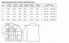 Mens Jacket Size Chart Mens Stretch Fit Blue Jean Denim Jacket At Amazon Men S