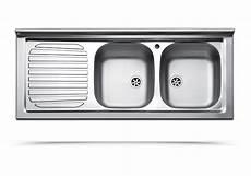 lavelli cucina acciaio lavello da appoggio due vasche con gocciolatoio a sinistra