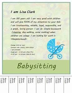 How To Write An Ad For Babysitting 17 Best Images About Babysitting Flyer Template On