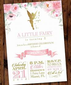Fairy Party Invite Fairy Party Invitation Fairy Woodland Invitation Gold