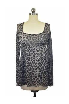 Sweet Pea By Frati Brown Leopard Print Blouse Size