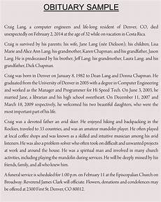 Example Obituary Writing An Obituary With 10 Obituary Samples Amp Examples