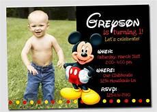Custom Mickey Mouse Invitations Free Printable Mickey Mouse Birthday Invitations