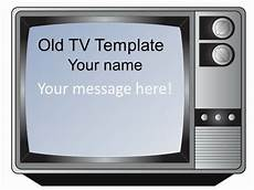 Tv Template Old Fashioned Television Set Template