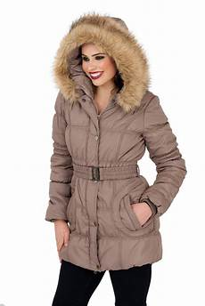 mid length coats for womens mid length padded parka coat faux fur hooded jacket