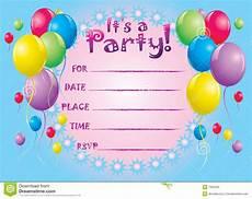 Birthday Invite Images Birthday Invite Card Stock Vector Illustration Of