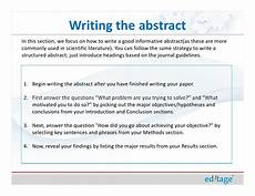 How To Write An Abstract Apa Sample How To Write An Effective Title And Abstract And Choose