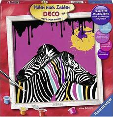 ravensburger malen nach zahlen deco 187 zebras 171 otto
