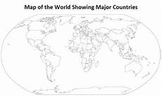 World Map Black And White Printable With Countries Printable Outline Map Of The World