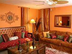 exotic orange living room with indian inspired daybed hgtv photo page hgtv