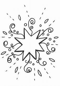 ausmalbild schneeflocken und sterne malvorlage 1