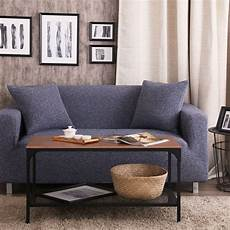 blue solid color knitted fabric sofa covers for