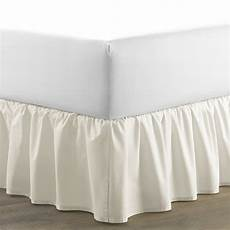 home ruffled 150 thread count bed skirt