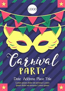 Vector Poster Carnival Poster Template Vector Download Free Vectors