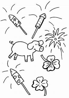 Ausmalbild Rakete Silvester Ausmalbild Silvester Silvester Mit Gl 252 Cksschwein