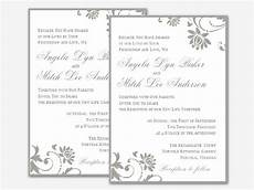 Wedding Invitations Microsoft Word Wedding Invitation Free Templates For Word