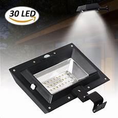 30 Led Solar Lights T Sunrise Solar Gutter Light 30 Led Solar Light Pir Motion