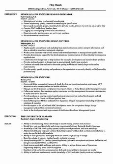 Quality Engineer Sample Resume Senior Quality Engineer Resume Samples Velvet Jobs