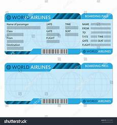 Blank Airline Ticket Template Airline Plane Ticket Template Boarding Pass Stock