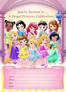 Toddler Birthday Invitation Disney Toddler Princess Aurora Snow White Cinderella