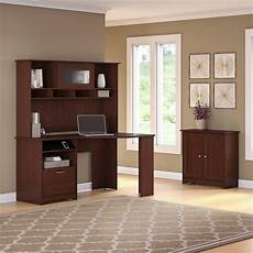 bush furniture cabot corner desk with hutch and small