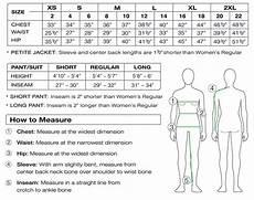 Bliss Size Chart Women S Size Chart Sport Obermeyer