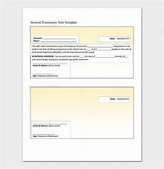 Secured Promissory Note Template Word Promissory Note Template 20 Free For Word Pdf