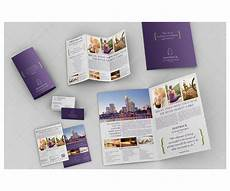 Bifold Flyer Violet Print Templates Bundle Bifold Brochure Trifold