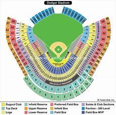 Dodger Stadium Los Angeles Ca Seating Chart View