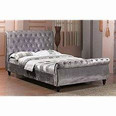 chesterfield modern bed frame sleigh style