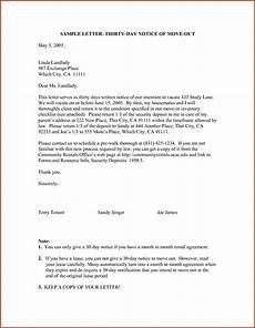 30 Day Notice To Move Out Letter Move Out Notice Letter Sample Resume Business Letter