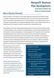 Nonprofit Business Plan Template 22 Non Profit Business Plan Templates Pdf Doc Free