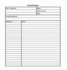 Cornell Notes Word Template Cornell Notes Template 56 Free Word Pdf Format
