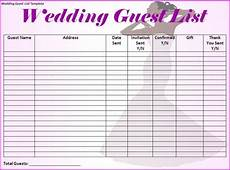 Wedding Invitation List Template Wedding Guest List Template I Would Make Just A Few More
