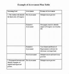 Example Of Assessment Free 7 Sample Assessment Plans In Pdf