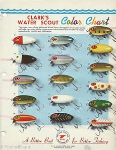 Bomber Long A Color Chart Clark Water Scout Lure Chart Fin Amp Flame