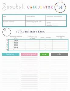 Debt Snowball Calculator 10 Free Debt Snowball Worksheet Printables To Help You Get